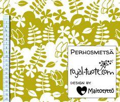 Perhosmetsä trikoo, Design by Maitotyttö