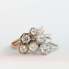 Hexagon Engagement Rings