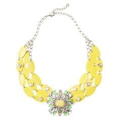 Loft - LOFT New Arrivals - LOFT Collection Yellow Brooch Necklace