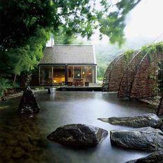 a minimalist sauna house in Sweden