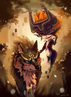 Midna and Wolf Link - by G-C06