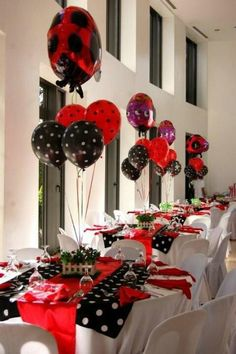 Ladybug party - table settings
