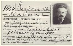 Walter Benjamin's library card. He fled to Paris from Germany, then hoped to reach the USA after Paris fell to the Nazis. At Port-bou, he was told by authorities he'd be turned over to the Gestapo, at which point Benjamin chose to take his own life. Brave and horrible decisions to face.