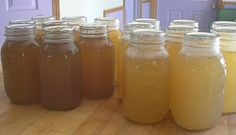 How to make and pressure can chicken broth