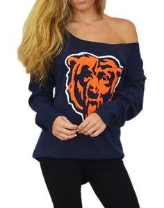 Touch by Alyssa Milano Chicago Bears Britt Sweater | SportyThreads.com