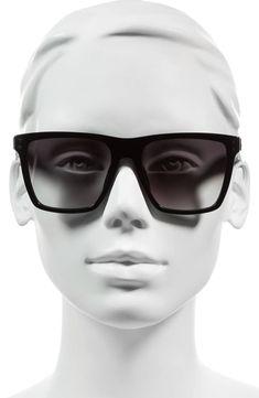 af4dfb8cb0 54mm Flat Top Gradient Square Frame Sunglasses