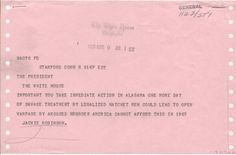 """lbjlibrary: """"  March 9, 1965. Jackie Robinson sends this telegram to LBJ about the violence in Selma. LBJ Library, White House Central File, Name File, """"Robinson, Jackie (baseball player)"""", box 209. """""""