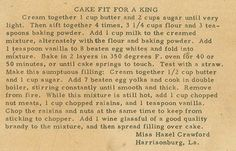 Roots From The Bayou: Family Recipe Friday - Cake Fit for a King