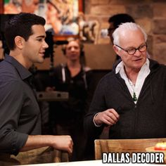 """Jesse Metcalfe and cinematographer Rodney Charters discuss a shot in the first-season #DallasTNT episode """"Family Business,"""" which debuted Aug. 1, 2012."""