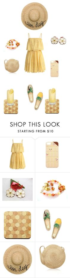 """Sun Day Fun Day"" by einder ❤ liked on Polyvore featuring Chicwish, Tory Burch and Eugenia Kim"
