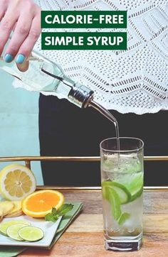 Simplify your summer cocktails with fewer calories. Try this calorie-free zero-sugar Simple Syrup made with Truvía Natural Sweetener in your favorite cocktail.