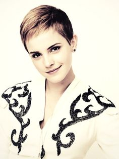 Emma Watson's Very Cute Pixie Cut---I think her hair looks best short..