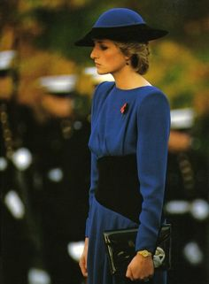 November 11, 1985: Princess Diana visits the Arlington Military Cemetery during their official trip to the United States.