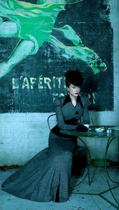 Pagoda Blue, Nicole Kidman - Moulin Rouge portrait by Hugh Stewart