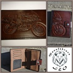 male leather wallet by Manufaktura Leo Leather Working, Leather Wallet, Leo, Beading, Jewelry Making, Handmade, Inspiration, Biblical Inspiration, Beads