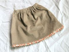 A cute corduroy skirt by leslie.keating, via Flickr.  Handmade skirt for a girl.