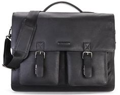 LEABAGS Miami genuine buffalo leather briefcase in vintage style - OnyxBlack. Highlights: genuine buffalo leather - Top quality - Classy, unisex vintage look. Features: thanks to the fine stitching and the excellent manufacturing, this genuine leather Briefcase is a stylish and loyal companion for your everyday life. Measurements (L x W x H): approximately 15,7 x 13 x 5,1 in. This Briefcase is incredibly roomy. The many pockets and a large main compartment offer plenty of space to carry your…