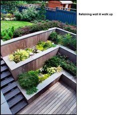 Walk up Egress door and retaining wall (idea for basement room!)