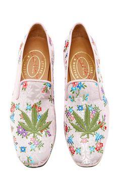Medium stubbs wootton pink cannabis platino ava slippers
