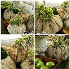 Burlap pumpkins...