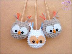 Amigurumi Baby Owl - Free Russian Pattern http://88crafts.blogspot.ru/2014/01/mini-owls.html