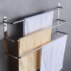 """""""Simple and Traditional Design, with Practicality and Durability High quality SUS304 Stainless Steel,Rust-free Easy to Clean. Brushed Stainless Steel Surface to Avoid Rustness and Fading. Using in bedrooms, bathrooms,and closets. 1*towel rack 1 pack Screw fittings 1 instruction sheet Color: Silver. Pattern: Nature. Material: Terry Cloth."""
