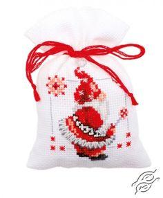 CROSS STITCH KITS - VERVACO - Potpourri Bags - Christmas Elves - Gvello Stitch