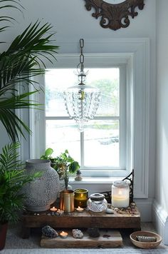 Sacred Space // Altar + decor // Ideas + inspiration for the bedroom, at home + outdoors // How To Bring The 5 Feng Shui Elements Into Your Home | Free People blog: