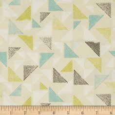 Cloud 9 Organic Landscape Blockprint Citron from @fabricdotcom  Designed by Ink & Spindle for Cloud 9 Fabrics. This certified 100% organic cotton print fabric meets the GOTS certification; only low impact, organic dyes were used in this product. This fabric is perfect for quilts, home decor accents, craft projects and apparel. Colors include navy blue, turquoise, citron green, cream and white.