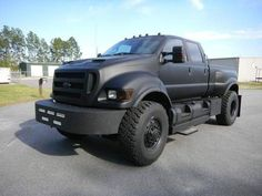 Matt black ford F650