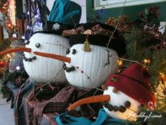"""Recycled pumpkins for christmas - next year ... ( I should not have thrown my """"still firm"""" pumpkins away!)"""