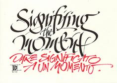 MB signifying the moment by Luca Barcellona - Calligraphy & Lettering Arts, via Flickr