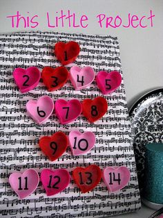 Countdown to Valentines Day cute idea!