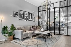 〚 Open space and bedroom behind the glass: Scandinavian apartment in grey 〛 ◾ Photos ◾Ideas◾ Design Small Apartment Interior, Apartment Renovation, Room Interior, Scandinavian Apartment, Appartement Design Studio, Studio Apartment Design, Style Salon, White Interior Design, Affordable Home Decor