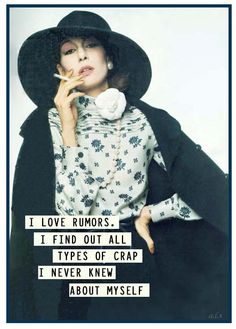 rumors  -  retro funny....