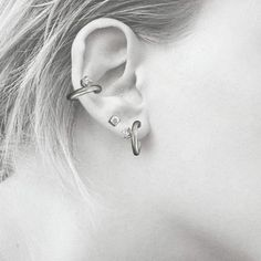 Sterling Ear Cuff with CZ Matte Finished