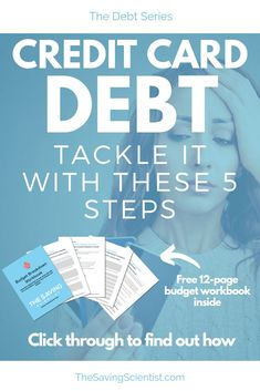 Credit card debt can seem insurmountable. Tackle your credit card debt with these 5 strategies. Pay Yourself First, Managing Your Money, Investing Money, Budgeting Tips, Money Management, Money Saving Tips, Personal Finance, How To Find Out, Credit Cards