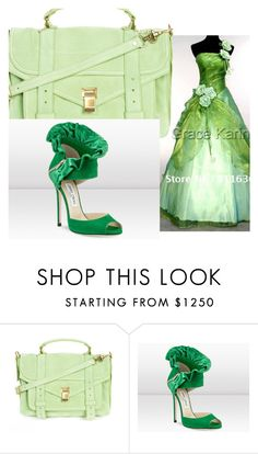 """mathings"" by darlene-diaz ❤ liked on Polyvore featuring Proenza Schouler and Jimmy Choo"