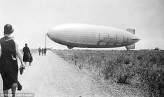 The USS Macon, was built to serve as an airborne aircraft carrier. This picture was taken at NAS Sunnyvale in June 1932 and show a day when the public was allowed in to see the dirigible