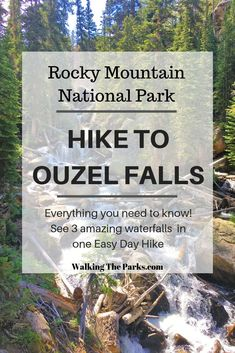 Working on your list of Things To Do in Rocky Mountain National Park? This hike to Ouzel Falls is on the top of our Things To Do in Colorado list. So amazing with 3 awesome waterfalls. Read on for everything you need to know for a memorable hike! Road Trip To Colorado, Colorado Hiking, Colorado Springs, Colorado Waterfalls, Hiking Places, Hiking Trails, Hiking Usa, Rocky Mountain National Park, National Forest