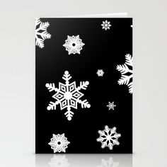 Set of folded stationery cards printed on bright white, smooth card stock to… #christmascard #holidays #happyholidays #seasonsgreetings #card #christmas #december #winter #cold #blackandwhite #snowy #cold #frozen #merrychristmas #cards