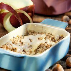 Apfelauflauf mit Haselnusskruste