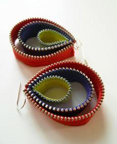 Amalia Versaci, Three-Tier Teardrop Zipper Earrings
