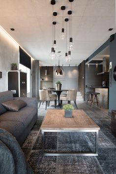 Rouhea, suoraviivainen ja selkeä koti.  #asuntomessut2014 New Homes, Decor, Interior Design, House Interior, Loft Decor, Home, Interior, Living Room Lighting, Home Decor