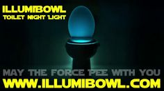 Kylo Ren takes a Sith and lights up his dark side with IllumiBowl. May the Force pee with you.
