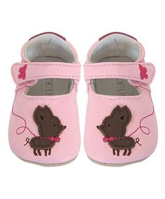 Look what I found on #zulily! Pink Chihuahua Leather Booties by Jack & Lily #zulilyfinds