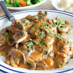 "6 minutes to skinny - Baked Smothered Golden Mushroom Pork Chops Recipe - 15 Minute Prep Time - Watch this Unusual Presentation for the Amazing to Skinny"" Secret of a California Working Mom Pork Chop Recipes, Meat Recipes, Cooker Recipes, Crockpot Recipes, Recipies, Pork Meals, Dinner Recipes, Chicken Mushroom Recipes, Chicken Recipes"