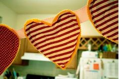 Valentine's Day Heart Bunting - Spread the love this Valentine's Day with the Valentine's Day Heart Bunting tutorial.
