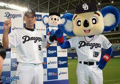 和田選手がまた新たな記録を達成です、300本塁打に続き、ナゴヤドームで通算1000打点を達成しました。