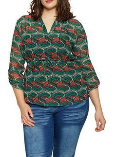 6673cec88 12 Awesome TORRID images | Plus size fashions, Challis fabric, Crew neck